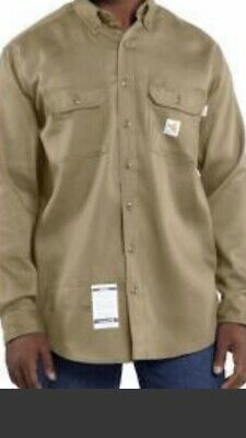 TWO CARHARTT FR long sleeve shirts, Fire Flame Resistant