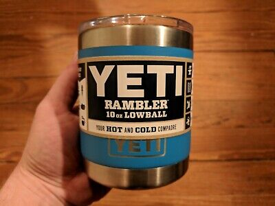 YETI Rambler 10oz *Lowball*TAHOE BLUE*MUG/CUP *W/MAGSLIDER LID*NEW & AUTHENTIC