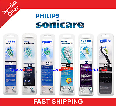 All Models 100% Philips Sonicare Proresults Toothbrush Replacement Brush Heads