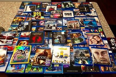 Blu Ray Movie 80 Lot Awesome Collection Horror Action Comedy Disney Marvel