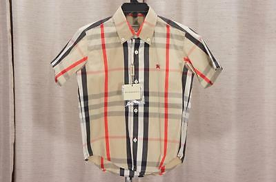 Burberry Baby Toddler Check Print Top Shirt 4Y