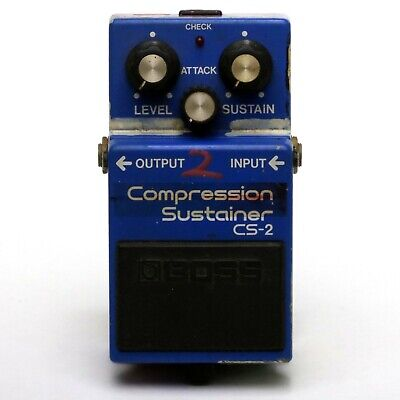 BOSS CS-2 Compression Sustainer Effect Pedal Made in Japan ACA Spec - Graffiti