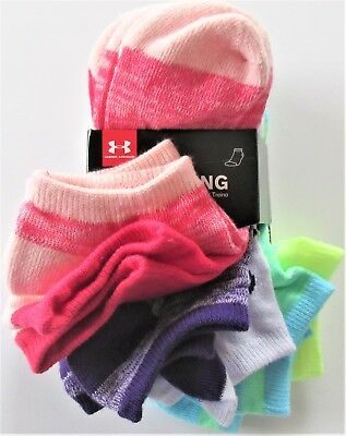 eb7096e6d54 Under Armour Training Girls No Show Assorted Twist Socks 6 PR Youth L (1-