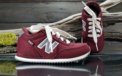 7322d6671eaac New Balance 501 Toddler Kids Unisex Sz 8 M Maroon Running Athletic Lace up  Shoes