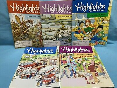 Highlights Magazines Lot of 5 Year 2002