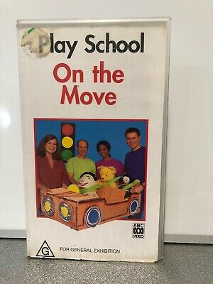 PLAY SCHOOL ON THE MOVE - VHS Tape in Good Condition - Australian Classic