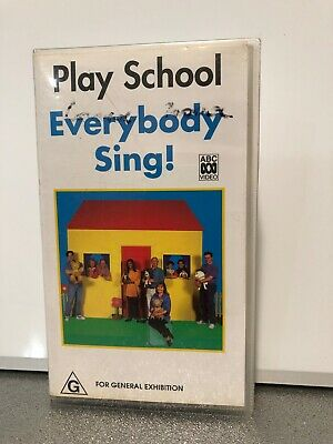PLAY SCHOOL EVERYBODY SING - VHS Tape in Good Condition - Australian Classic