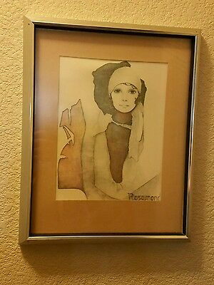 Christine Rosamond Print Wind Blown Art Print 1976 Anti Glare Frame
