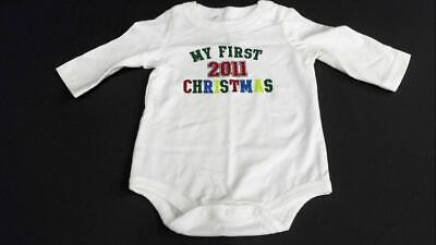 02e8fc279 NWT Circo My First Christmas Unisex Baby size Newborn Cotton Bodysuit White  Sale