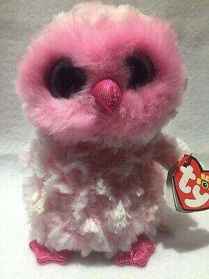 af7b1092bea NEW FOIL DESIGN! Ty Beanie Boos ~ TWIGGY the Pink Owl (6 Inch ...