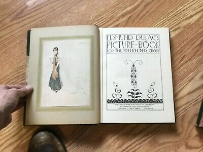 1915 Edmund Dulac's Picture Book For French Red Cross LEATHER BOUND w/ Slipcase