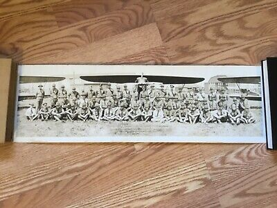 1927 US Army Air Service PANORAMA Photo Selfridge Field MICHIGAN Biplane RARE!!!