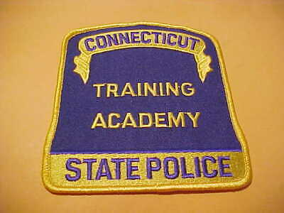 CONNECTICUT STATE POLICE Training Academy Patch Shoulder Size New Big 4 5 X  4 5
