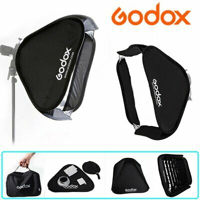 Godox 60cm 80cm Collapsible Softbox Diffuser Bowens Mount + Grid For Flash Light