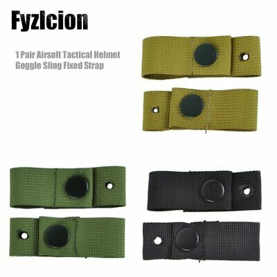 Helmet Goggle Sling Fixed Strap Portable Hunting Equipment Paintball Military