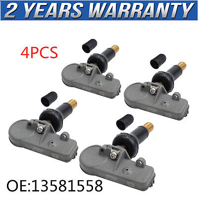 4x ACDelco 13581558 FOR GM OEM Car Tire Pressure Monitoring System (TPMS) Sensor