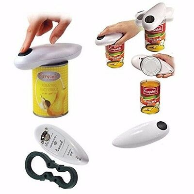 Automatic Electric Can Tin Bottle Opener Touch Free Operater No Hands Jars  /