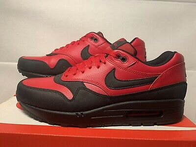 pretty nice 17048 60795 Nike Air Max 1 LTR Premium Size 11 Gym Red Black 705282-600