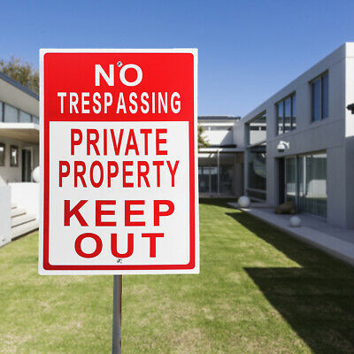 "8""x12"" Metal No Trespassing Private Property Keep Out Do Not Enter Aluminum"