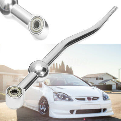 Silver Aluminum Dual Bend Racing Short Throw Shifter For HONDA CRX Civic EG EK
