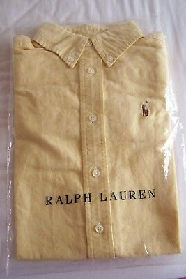 Genuine Ralph Lauren Boy's Yellow Oxford Shirt - Bnip Age 4 Rrp £55!