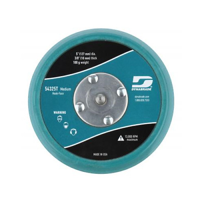 1-Each Dynabrade 5 In Teal Non-Vacuum Disc Pad Hook-Face