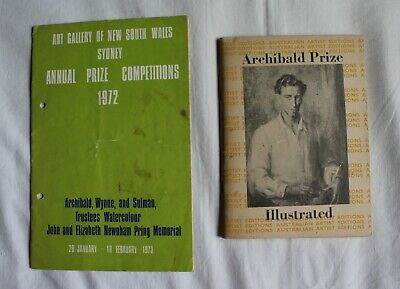 Vintage Australian art reference book Archibald Prize 1950 + Annual Prize 1973