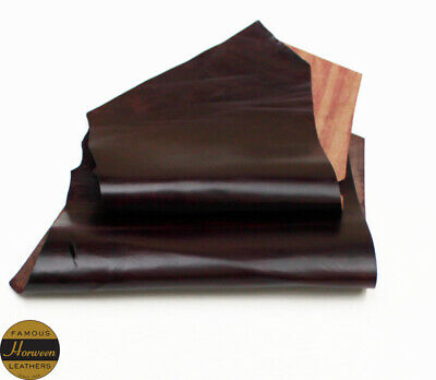 Horween Horse Chromexcel 1.0-1.2mm Thick Burgundy 2 Piece 2.5-3.0 sq ft Remnant
