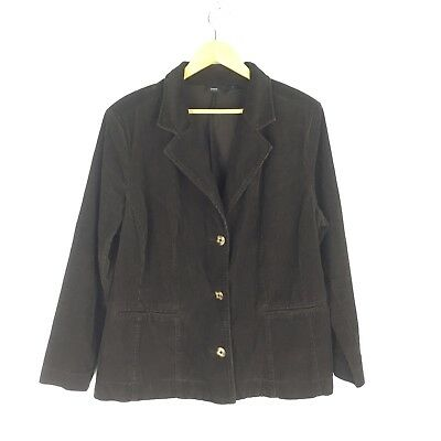 87446d75224 Womens Mossimo Target Size 20W Corduroy Button Down Jacket Dark Brown