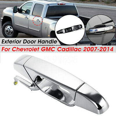 Silverado 2007, 2009, 2010, 2011, 2012, 2013 GMC Sierra Replacement Rear Left Driver Side Chrome Door Handle for 07-13 Cadillac Escalade Yukon XL GM1520130 Yukon Chevrolet Avalanche Tahoe