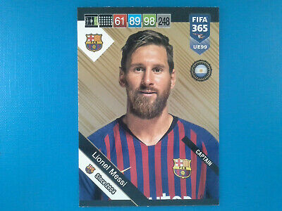 Panini Adrenalyn Fifa 365 2018-19 2019 Update UE99 Lionel Messi Gold