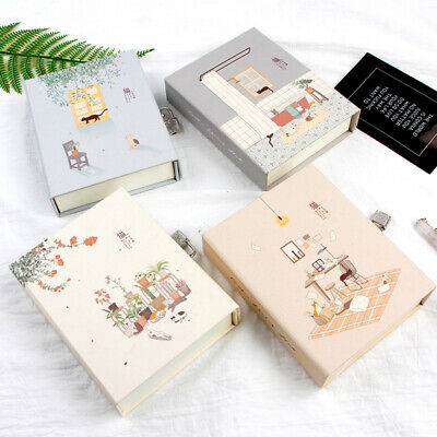 """Cats Holiday"" 1pc Journal Notebook Lock Box Diary Cute Stationery Gift Package"