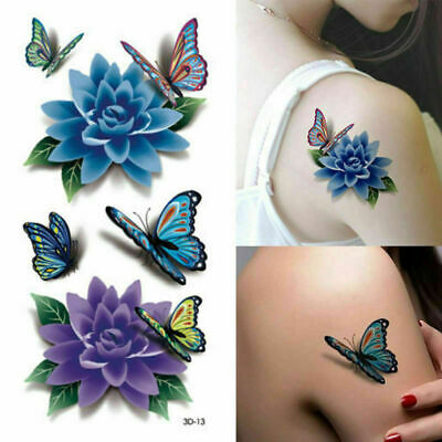 Temporary Tattoo Large Sexy Butterfly Body Art Sticker Fake Ladies Waterproof