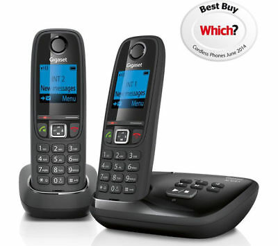 Gigaset Duo Al415A Twin Handset Cordless Phone With Answer Machine **free P&p**