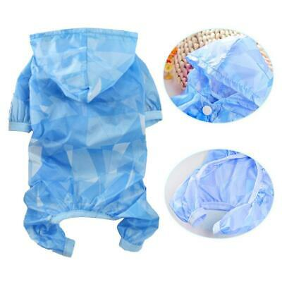 Pet Four-leg Raincoat Thin Model Sun Protection Clothes for Toy Poodle Puppy Dog