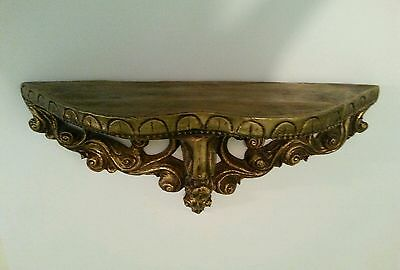 Large Scrolled Wall Shelf Sconce Hollywood Regency Style