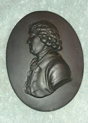 Wedgwood Black Basalt Portrait Of Josiah Wedgwood Medallion 19th century