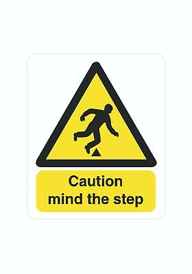 Mind The Step Caution Sticker Decal Graphic Vinyl Label