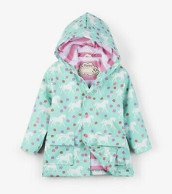 New Hatley Galloping Horses Colour Changing Raincoat Mac Jacket 3 4 5 6 7 8 10