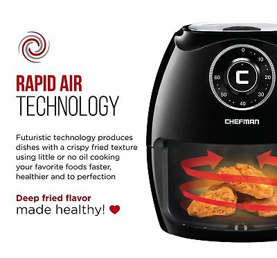 Chefman 6.5 Liter/6.8 Quart Air Fryer Family Size X-Large Manual Refurb w/ issue