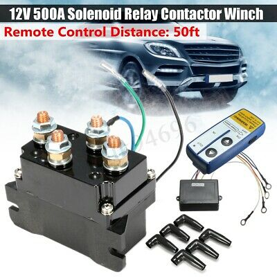 12V Solenoid Relay Contactor Winch Rocker Wireless Electric RC For Jeep Truck