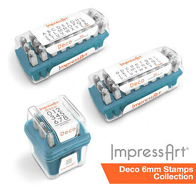 ImpressArt 6mm Deco Font 75 pc. Full Stamp Collection for Stamping