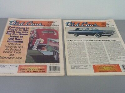 Old Cars Weekly News & Marketplace Magazines, 3rd Quarter 1994, July - September