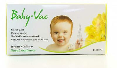 Nasal Aspirator BABY-VAC with Special Cleaning Brush Included