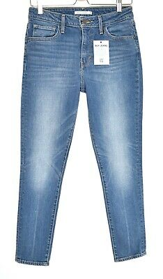 LEVIS 721 HIGH RISE SKINNY Medium Blue Ankle Crop Jeans Size