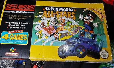 Super Nintendo SNES Mario Allstars edition Console Fully Boxed With Instructions