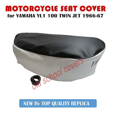 YAMAHA YL1 L1 TWIN JET 100 1966- 1967 DUAL COLOUR SEAT COVER with STRAP & LOGO