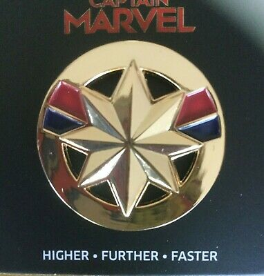 Captain Marvel 2019 limited edition lapel pin from Disney's Brie Larson movie.