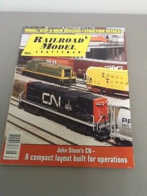 Railroad Model Craftsman Magazines, Lot of 4 from 2003-2007, ATSF & MILW Boxcars