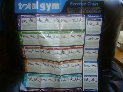 Total Gym Exercise Wall Chart Poster